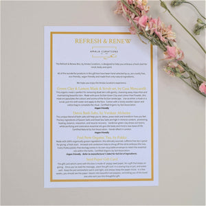 Refresh & Renew Gift Box Menu Card