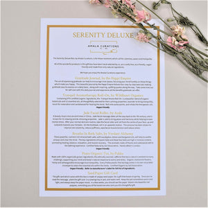 Serenity Deluxe Gift Box Menu Card