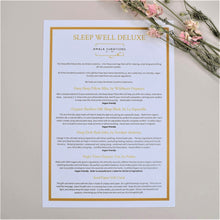 Load image into Gallery viewer, Sleep Well Deluxe Gift Box Menu Card