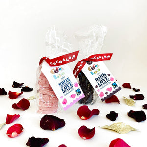 Cocoa Loco Organic Love Hearts White & Dark Chocolate Valentine's Day