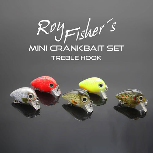 Mini Crankbait Set Treble Hook