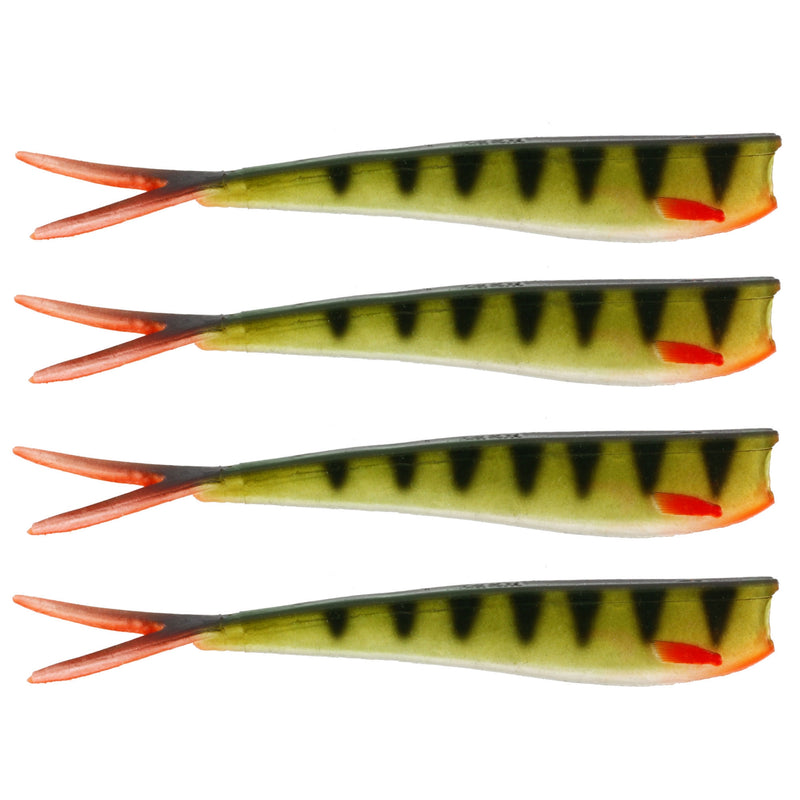 "Twin Teez 8"" (204mm) No Action V Tail Shad Striped Perch"
