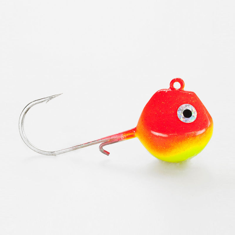 Light Tackle LT Jighead mit VMC Haken rot/ gelb 85g