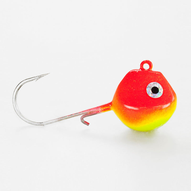 Light Tackle LT Jighead mit VMC Haken rot/ gelb 100g