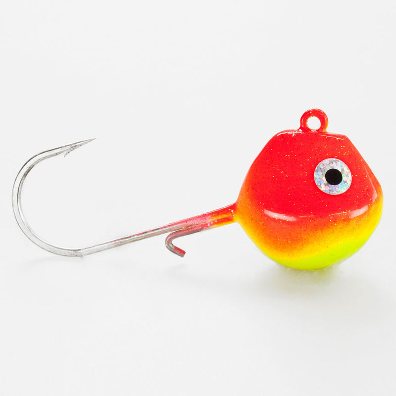 Light Tackle LT Jighead mit VMC Haken rot/ gelb 160g
