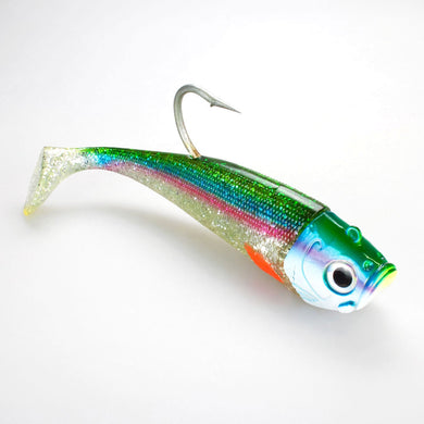 Saltwater Jig Shad1 Jighoved + 2 Shads Holostraphic Hering