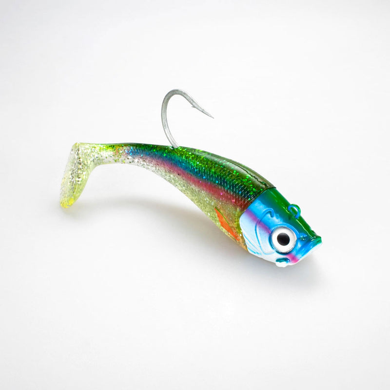 Saltwater Jig Shad, 20,0cm, 265g, 1  Kopf + 1 Shad, Holographic Hering