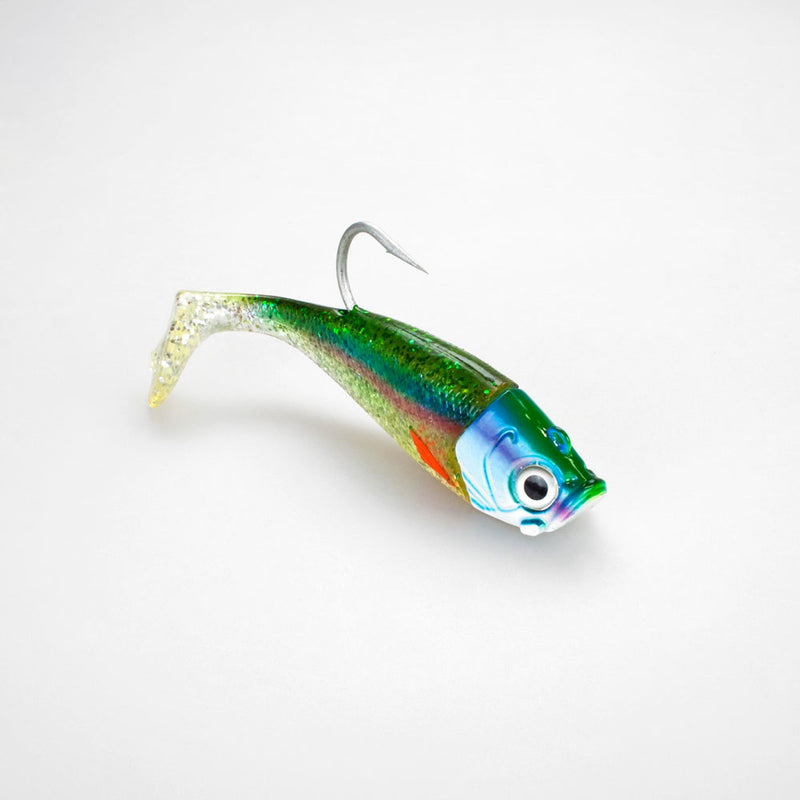 Saltwater Jig Shad, 16,0cm, 180g, 1  Kopf + 1 Shad, Holographic Hering