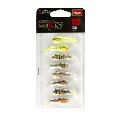 Micro Spikey Fry Mixed Colour Pack x8