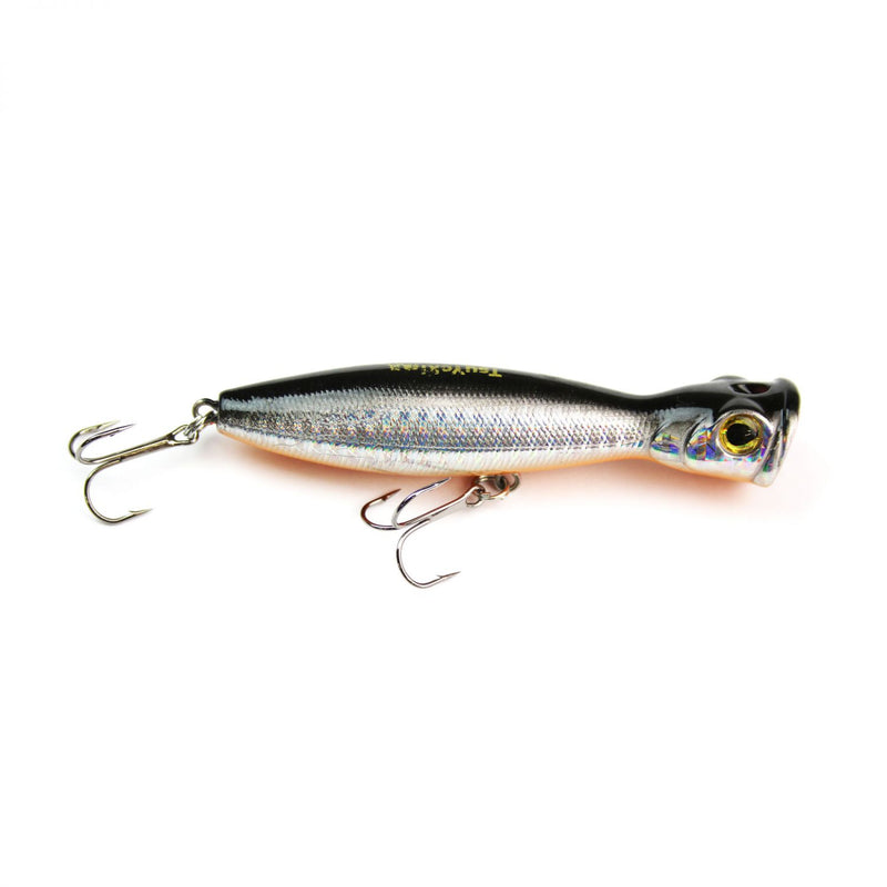 Scary Popp 10,00cm Silver Black Minnow
