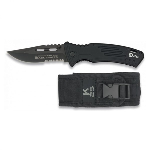 K25 Black Coated Klappmesser