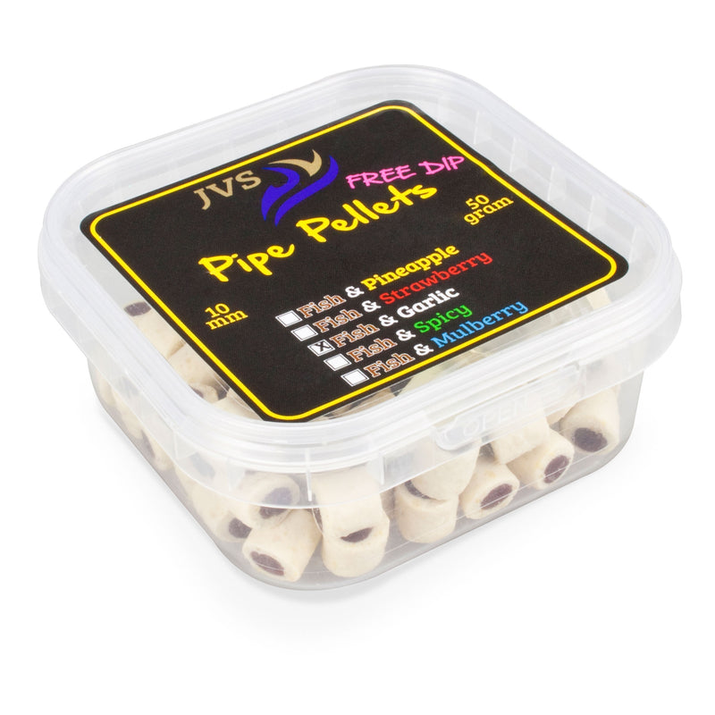 Duo Pipe Pellets 10mm 50g + Dip Garlic/Fish
