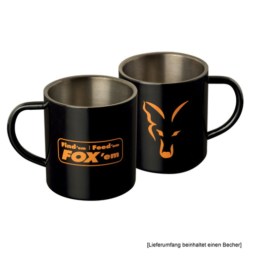 Fox CLU254 Stainless Sort XL 400ml Mug Ædelstål Kop