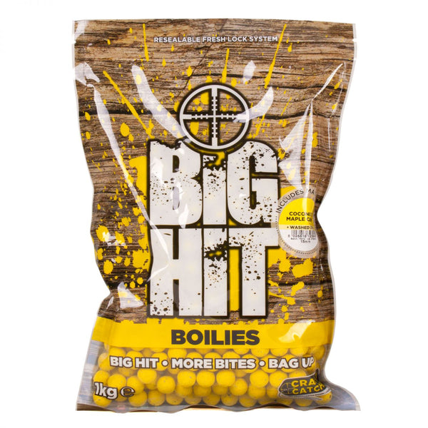 Crafty Catcher Big Hit Boilies 20mm 1kg + Pop Ups