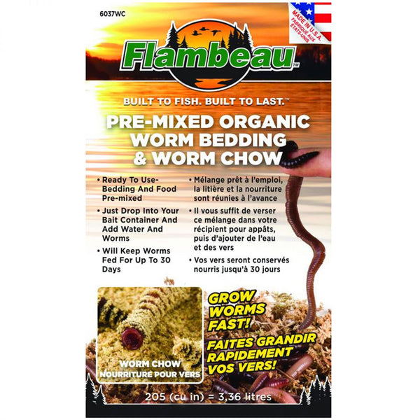 Flambeau Worm Bedding Plus Food Small 6037WC