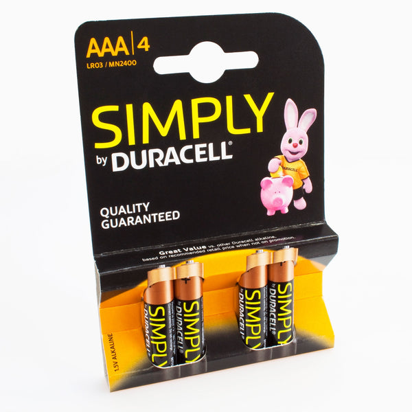 Duracell Batterir 4er Blister Duracell Simply AAA Micro