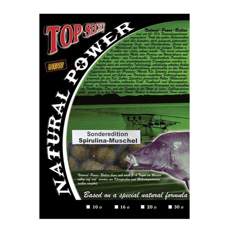 Natural Power Boilies Sonderedition 20mm Spirulina /Muschel 1kg
