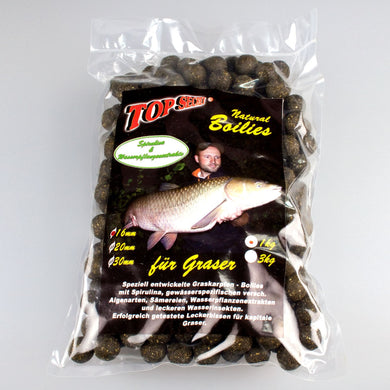 Top Secret Natural Græskarpe Boilies 1 Spirulina 16mm 1Kg