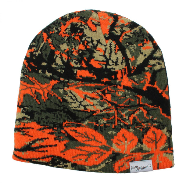 Roy Fishers Orange - Camou Beanie, uni - Orange Camo