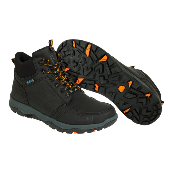 Fox Collection Sort/Orange Mid Boots Fiskersko, Str