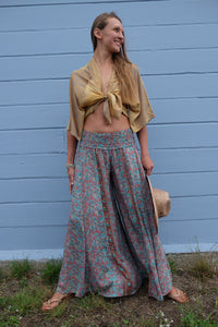 Aventurine Straight-Legged Pants