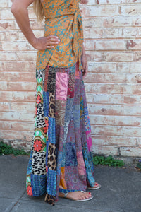 Peacock Ore Patchwork Pants