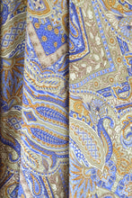 Load image into Gallery viewer, Blue/Gold Paisley
