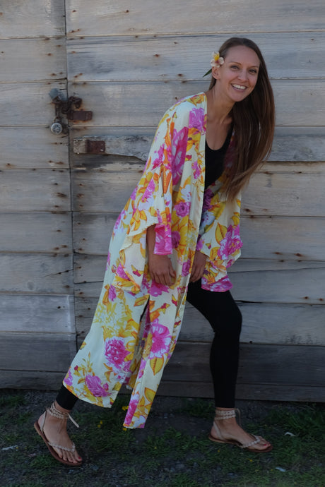 Indigo Gabbro Convertible Kimono (Available in Multiple Colors)