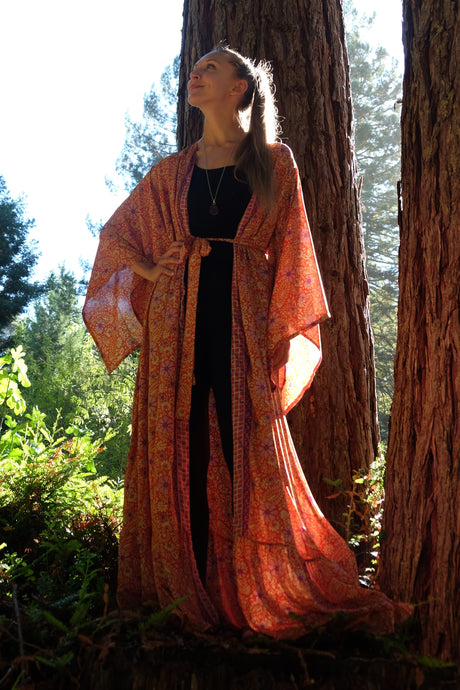 Goldstone Long Kimono with Belt