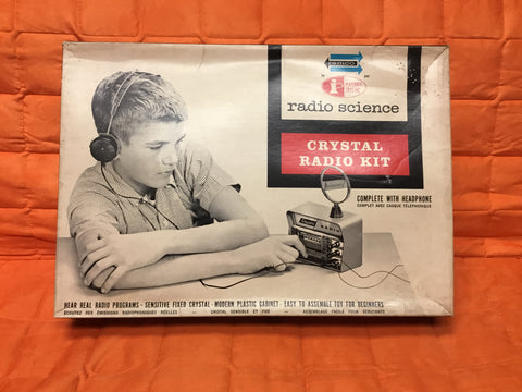 1962 Remco Radio Science Crystal Radio Kit complete used only a couple times