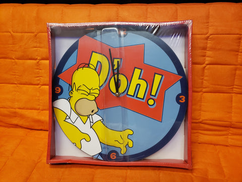 The Simpsons Homer Saying D'oh! 13 1/2″ Cordless Wood Wall Clock