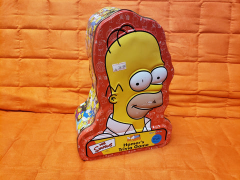 Homer Trivia Game opened