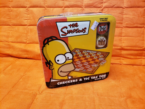 2007 Simpsons Tic Tac Toe sealed Torn Plastic