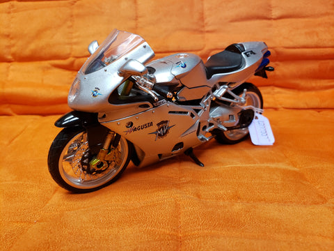 "6"" Diecast Motorcycle Silver"