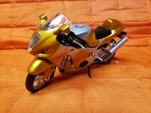 "6"" Diecast Motorcycle Gold"