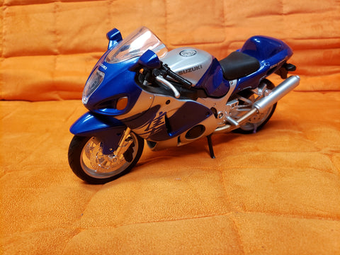 "6"" Diecast Motorcycle Blue"