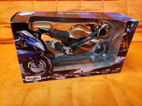 Diecast Motorcycle Gold boxed