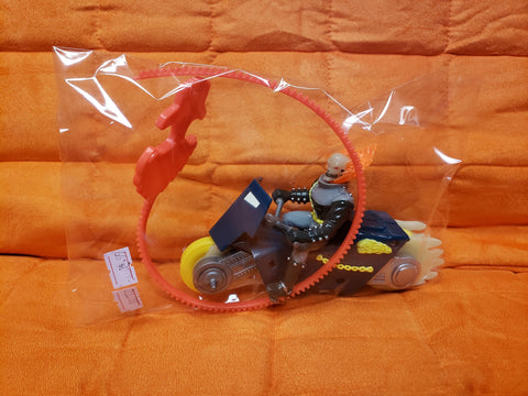 1995 MARVEL TOY Biz Ghost Rider Flaming Stunt Cycle