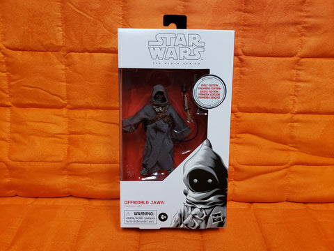 "STAR WARS OFFWORLD JAWA 6"" BLACK SERIES #96 FIGURE FIRST EDITION WHITE BOX"