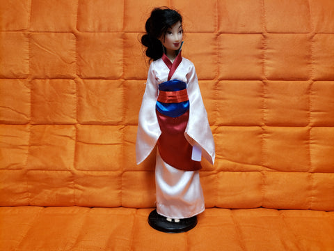 Disney Store Exclusive Princess Mulan Barbie Doll Original Kimono Dress
