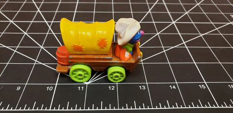 Vintage 1987 Muppets Playskool Grover Diecast Metal Toy Car Cowboy
