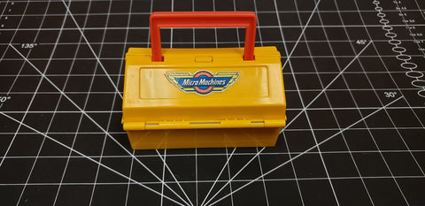 Micro machines speedshop yellow custom case carrier 1990
