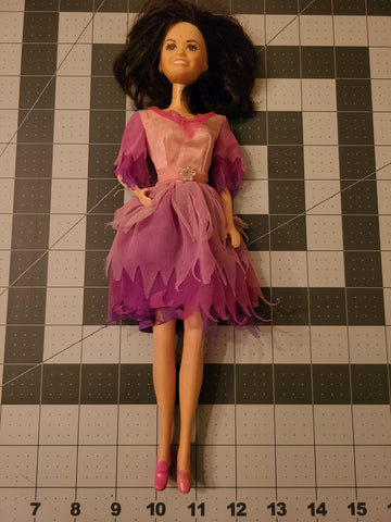 Marie Osmond  Barbie Doll Purple Pink Ruffle Dress 1966