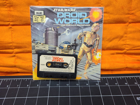 Vintage Star Wars Read Along Book And Tape Droids World