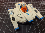 1982 Fisher Price Adventure People Alpha Interceptor #368 Spaceship and Pilot
