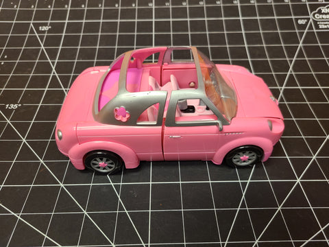 2002 Polly Pocket Pool Party Pink Stetch Limo Cadillac Doll Convertible Car