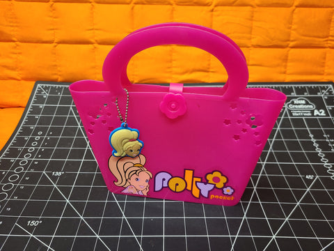 Pink Polly Pocket Purse With Keychain Early 2000s
