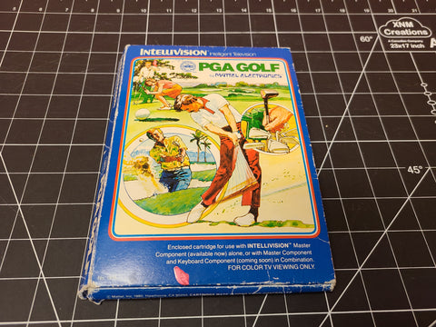 PGA Golf Intellivision With Box 1980