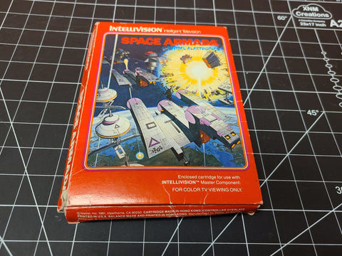 Space Armada Intellivision, 1981 red box