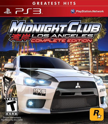 PS3 Midnight Club Los Angeles Complete Edition